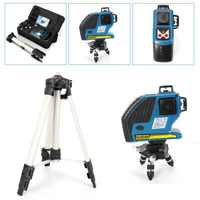 360 12line 3d Green Light Laser Level Outdoor Cross Measure Tool W Tripod