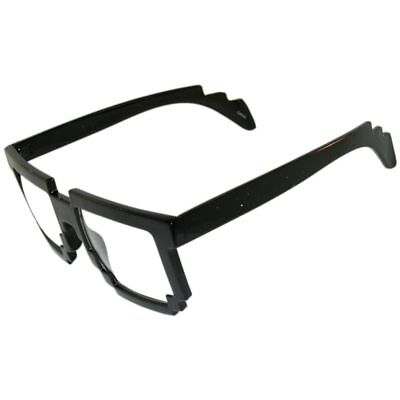 Amazing! Pixelated Nerdy Gamer Geek Glasses! Do the Robot! Get Your Nerd On! - Pixel Nerd Glasses