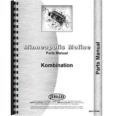 New Parts Manual For Minneapolis Moline Kombination Tractor
