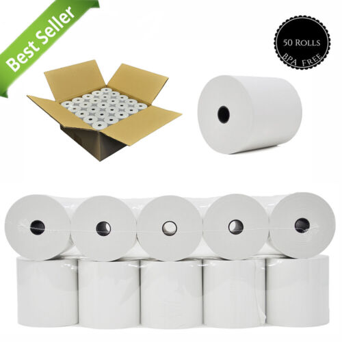 Core Less  3 1/8 x 273 thermal paper 50 rolls  Thermal Paper Rolls Bpa Free