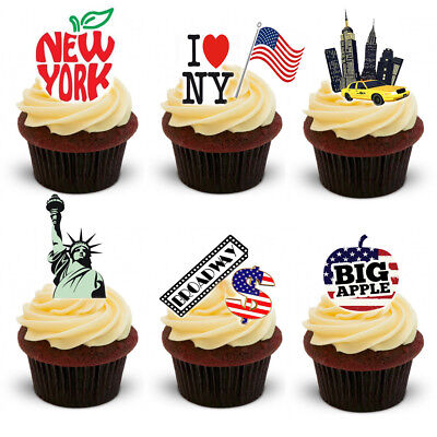 30 Stand Up New York City Edible Wafer Paper Cake Cupcake Toppers