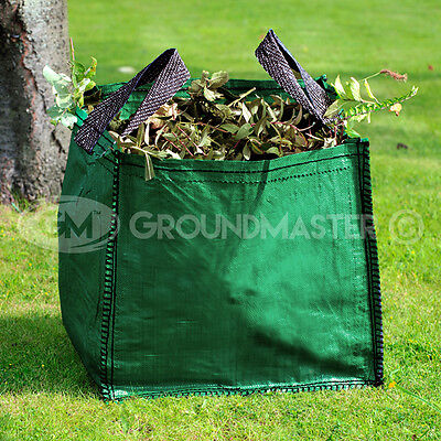 9890e5fd48 GroundMaster 120L Garden Waste Bags - Heavy Duty Large Refuse Sacks with  Handles