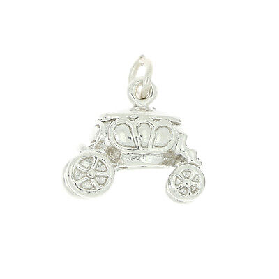 STERLING SILVER CINDERELLA CARRIAGE CHARM OR PENDANT