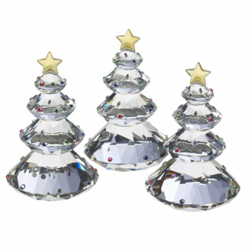 NEW! JUDITH RIPKA Home Gemstone Pattern 3 Pc SET In Box Crystal Christmas Tree