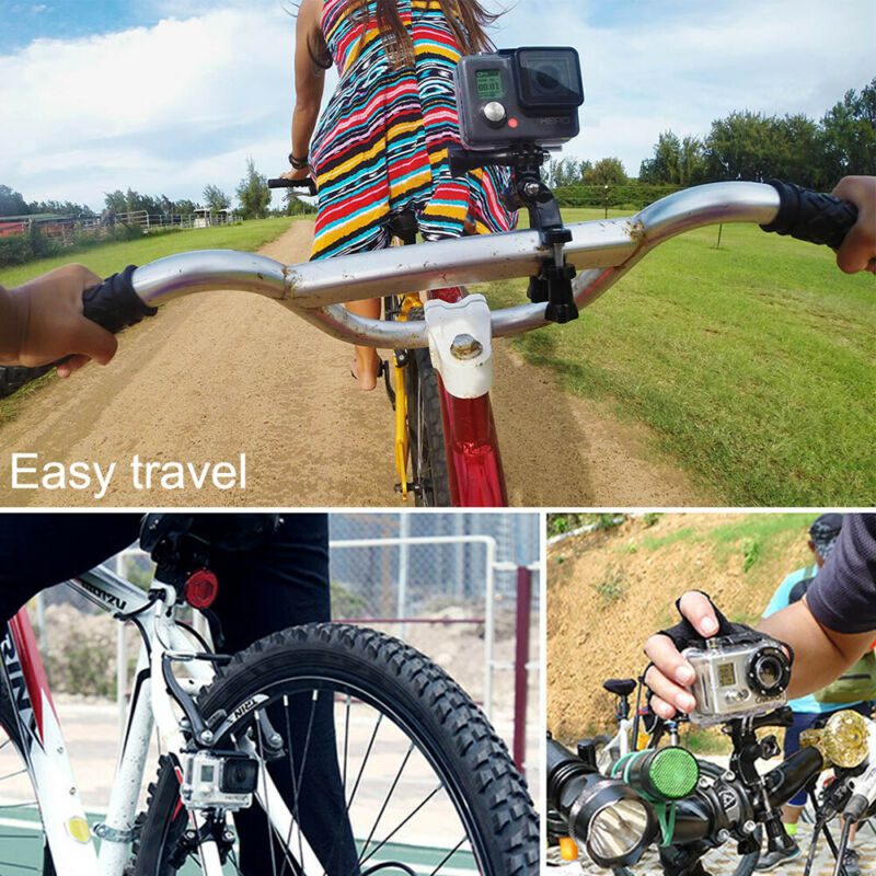 Universal Bike Motorcycle MTB Handlebar Mount Holder For Gopro SJCAM Xiaomi Yi