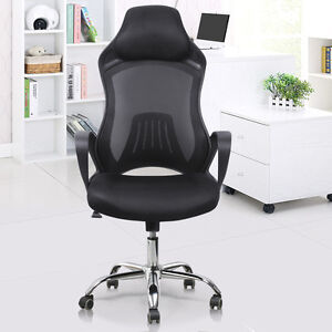 Adjustable Swivel Bucket Seat Racing Car Style fice Chair Mesh Desk Chair New
