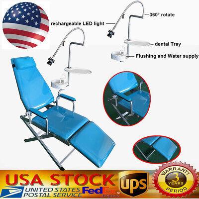 Dental Portable Folding Mobile Chair W Led Lighttraywaste Basinwater Supply