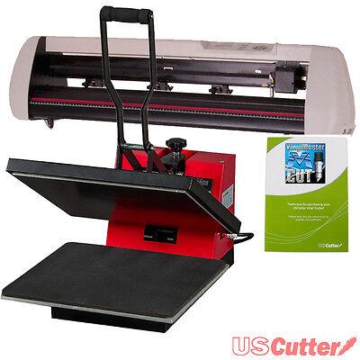 Contour Cut Vinyl Cutter + Heat Press Machine, Decal/Sign/Tshirt Making BUSINESS
