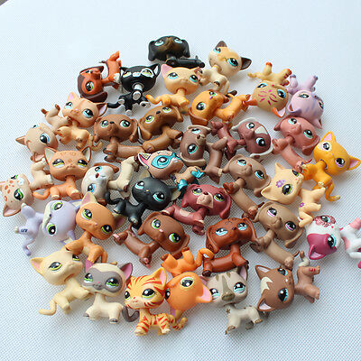 5pcs LPS toys dachshund dog+short hair cat littlest pet shop lot birthday gift