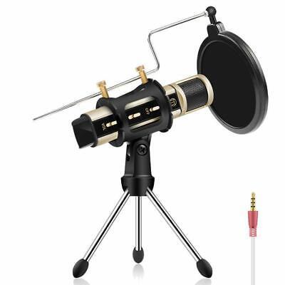 Studio Recording Microphone,Condenser Broadcast for Phone PC LiveStream/& Youtube