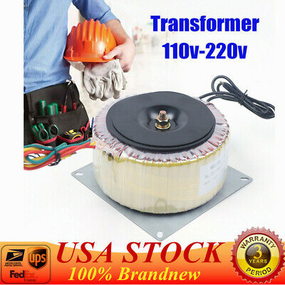 Toroidal Transformer 110 220v Low Frequency Isolation Transformer 900w Us Stock