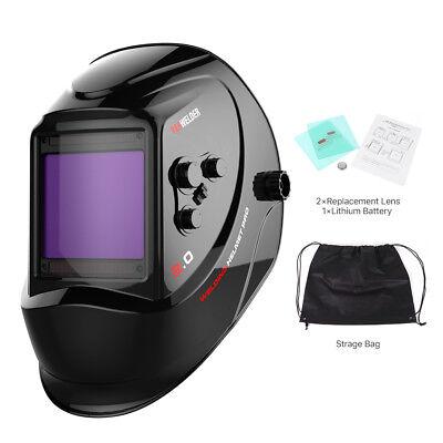 Large View Area True Color Pro Solar Welder Mask Auto-darkening Welding Helmet