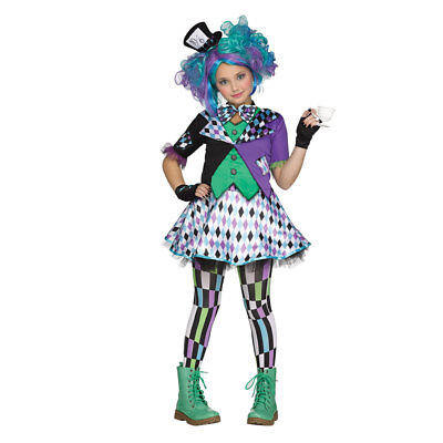 Girls Mad Hatter Purple Teen Halloween Costume](Halloween Costume Teen Girls)
