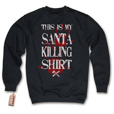 Pullover - SANTA KILLING SHIRT - Weihnachten Weihnachtsmann Sweater S M L XL XXL