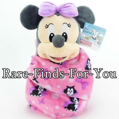 Disney Parks Babies Minnie Mouse Blanket Pouch Plush Doll Toy 10