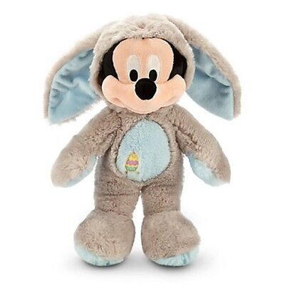 Disney Store Mickey Mouse Bunny Easter Rabbit Plush Toy Exclusive Gray 2014 New