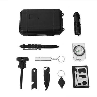 13 in 1 Outdoor Hiking Camping First Aid Survival Tool Rescue Gear Emergency Kit