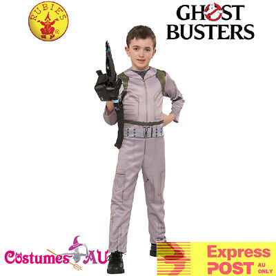 Boys Ghostbusters Costume Ghost Busters Jumpsuit 80s 1980s Child Kids Uniform (80s Costumes For Boys)