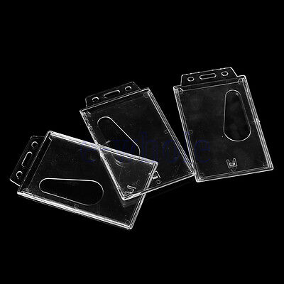 3 Vertical Hard Plastic Id Badge Holder Id Badge Card Holdertransparent Hm