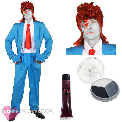 Celebrity Halloween Costumes Men (MENS DELUXE ZOMBIE GLAM ROCK COSTUME POP HALLOWEEN FANCY DRESS DEAD)