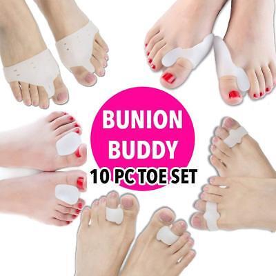 Glamza Complete 10 Piece Bunion Buddy Corrector Set Silicone Toe Health Seperato