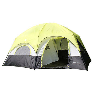 Tahoe Gear Coronado 12 Person Dome 3 Season Family Outdoor Camping Cabin Tent