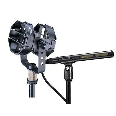 - Audio-Technica AT875R Short Shotgun Microphone + AT8415 Low Profile Shock Mount