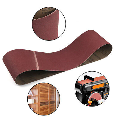 "8"" x 60"" Sanding Belt Aluminium Oxide Sander Abrasive Used On Wood 2Pcs 100 Grit"