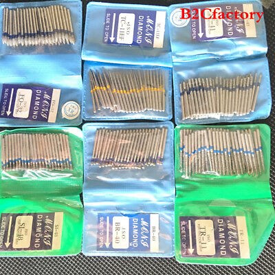 50pcs Dental Diamond Fg High Speed Burs For Polishing Smoothing Teeth Polishers