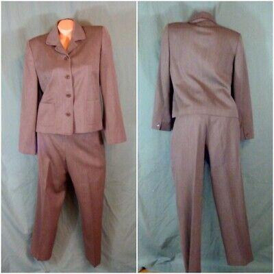 Talbots Pants Suit Size 10P Petite Lined Jacket Wool Woolmark