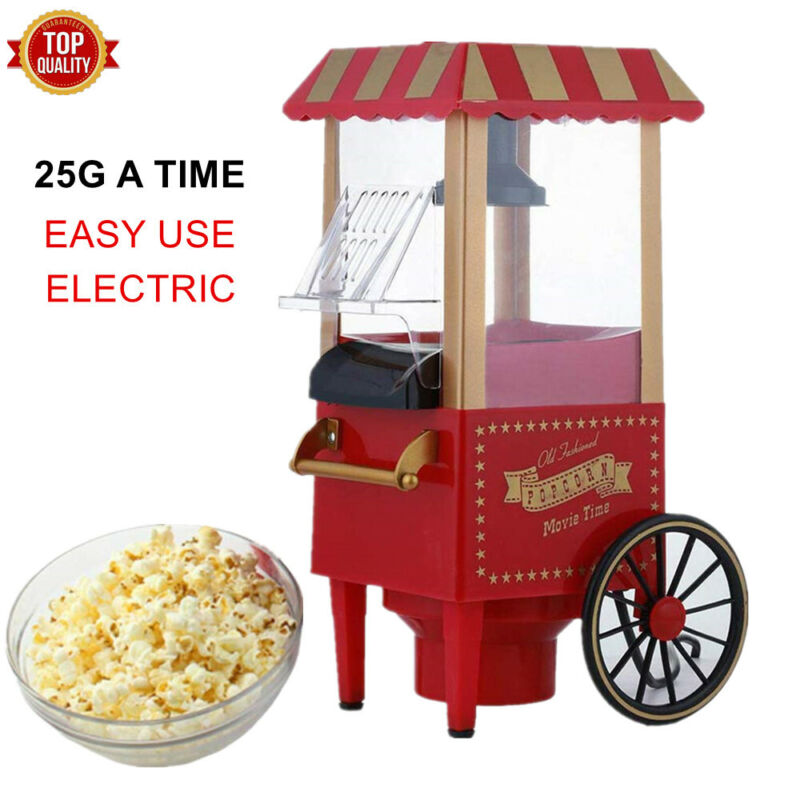Air Pop Popcorn Machine Electric Popper Maker Cart Tabletop