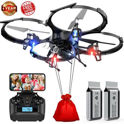 DBPOWER Drone U818A FPV Drones with 720P WI-FI Camera RC Quadcotper TS06