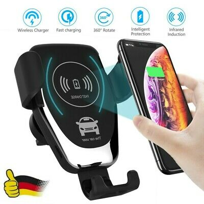 Qi Auto KFZ Handy Halterung Induktions Ladegerät Clamping Car Wireless Charger S