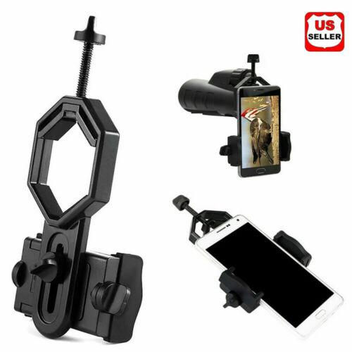 NEW Universal Telescope Cell Phone Mount Adapter for Monocular Spotting Scope US Binoculars & Telescopes