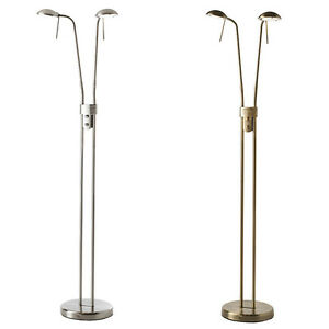 Endon hammersmith floor standing articulated reading lamp for Floor reading lamp with dimmer