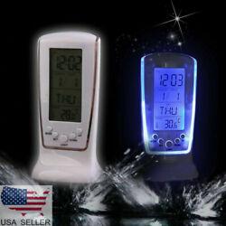 HOT Digital Backlight LED Display Table Alarm Clock Snooze Thermometer Calendar