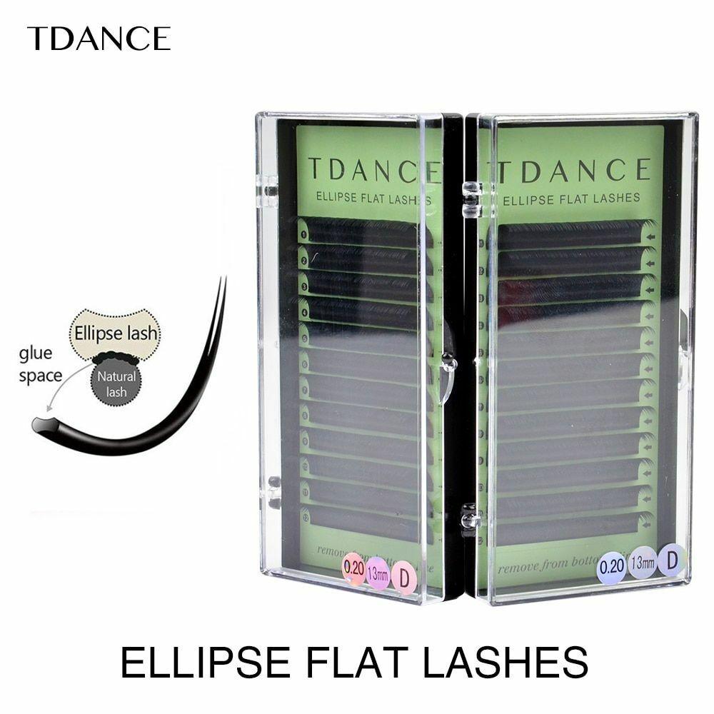 Eyelash Extension Flat Ellipse Lashes Matte Faux Mink False