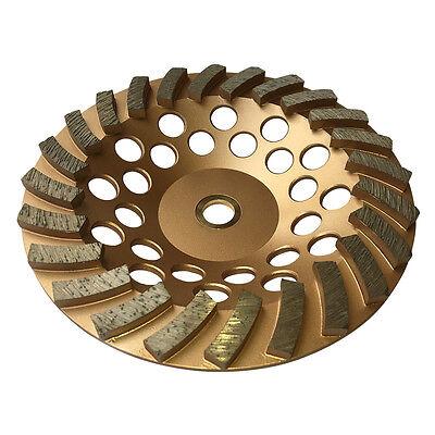 "7""x24 Seg Diamond Concrete Spiral Turbo Grinding Cup Wheels 7/8-5/8 Arbor"
