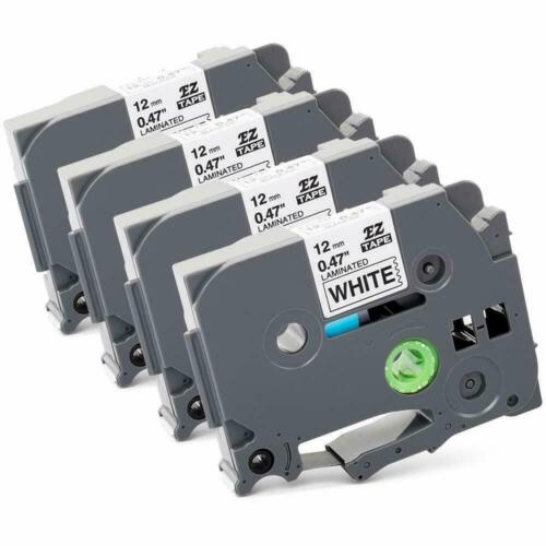 4 Pk PUTY Label Tape for Brother P-Touch equiv. to TZ-231 TZe-231 12mm