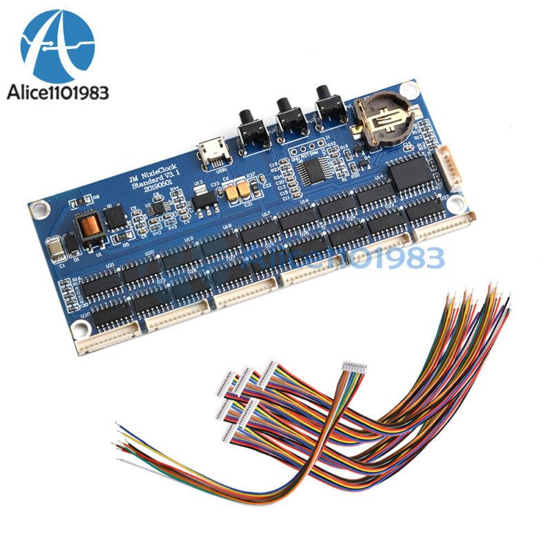 Micro Usb Tube Glow Tube Clock Kit In14 Qs30 In12 Universal Pcba