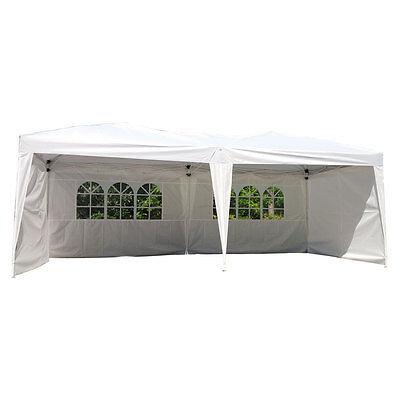 (10'X20' EZ POP UP Wedding Tent Party Foldable Gazebo 4 Walls Canopy W/Carry Case)