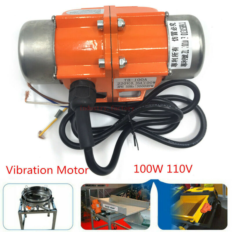 100W 110V Industrial Vibration Motor 1 phas For Vibrating screen OR a Controller