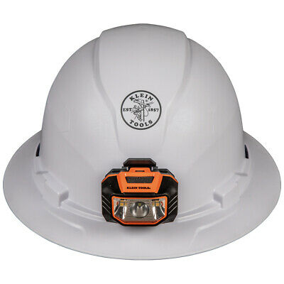 Klein Tools 60406 Hard Hat Non-vented Full Brim Style With Headlamp