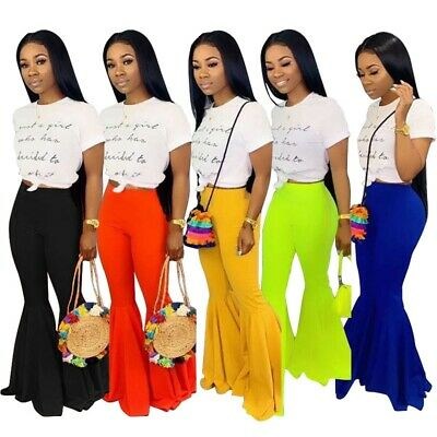 Casual Style Solid Color - Fashion Women New Solid Color Casual Street Style Club Wide Leg Pants Trousers