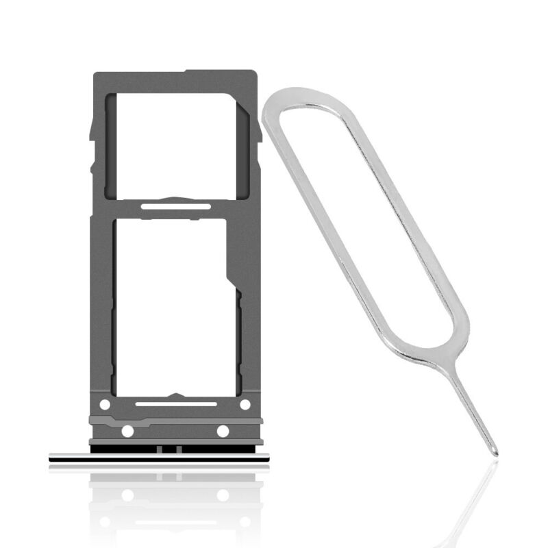 New SIM and Memory Card Tray Holder With SIM Pin for Samsung Galaxy S9+ SM-G965U