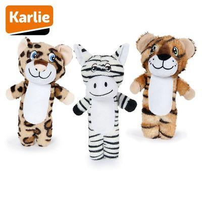 Karlie Plüsch-Hundespielzeug Leopard/Tiger/Zebra Spielzeug Kuscheltier Quitschie Hund Plüsch Spielzeug