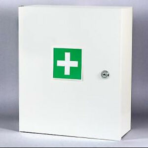 Wall-Mount-First-Aid-Medical-Medicine-Metal-Steel-Cabinet-Box-Lockable-Case