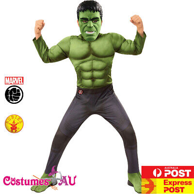 Kids Hulk Deluxe Costume Child Boys Superhero Marvel Avengers Book Week Outfit