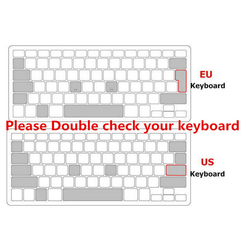 Russian Silicone EU Keyboard Cover Skin Protector For Macbook Air 11.6 Inch 11/""