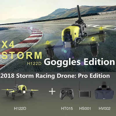 Hubsan H122D Pro STORM 5.8G FPV Micro Racing Drone Quadcopter 720P+Goggles Set
